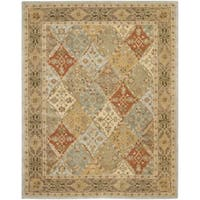Safavieh Handmade Heritage Traditional Bakhtiari Light Blue/ Light Brown Wool Rug - 5' x 8'