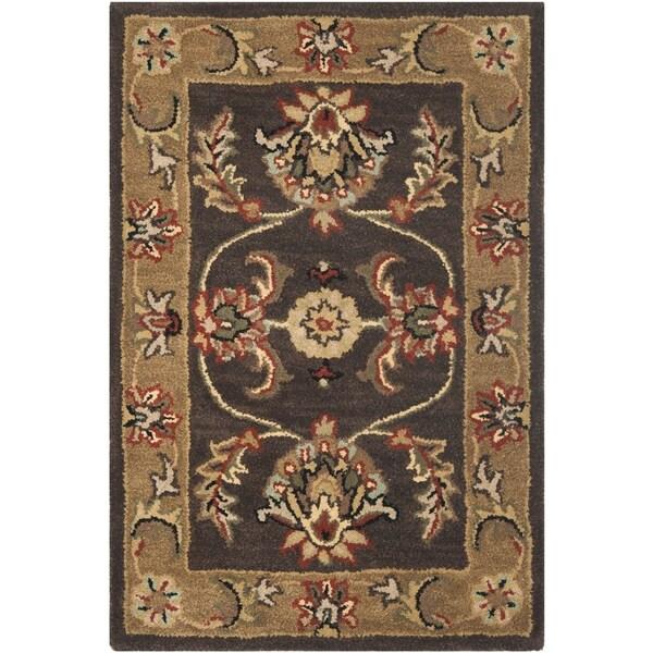 Safavieh Handmade Heritage Traditional Tabriz Brown/ Beige Wool Rug (2' x 3')