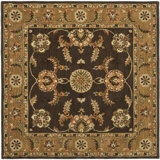 Safavieh Handmade Heritage Traditional Tabriz Brown/ Beige Wool Rug (6' Square)