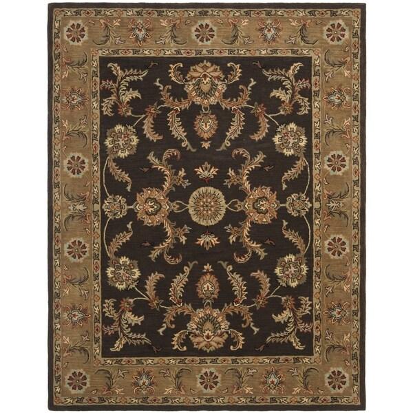 Safavieh Handmade Heritage Traditional Tabriz Brown/ Beige Wool Rug (7'6 x 9'6)