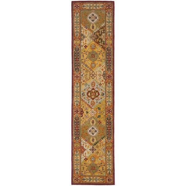 Safavieh Handmade Heritage Traditional Bakhtiari Multi/ Red Wool Rug (2'3 x 18')