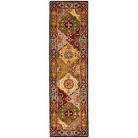 "Safavieh Handmade Heritage Traditional Bakhtiari Multi/ Red Wool Rug - 2'3"" x 6'"