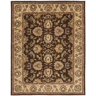Safavieh Handmade Heritage Timeless Traditional Brown/ Ivory Wool Rug (9' x 12')