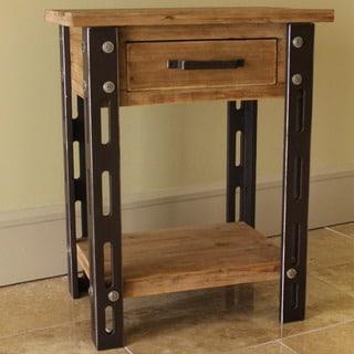 International Caravan Rustic Forge One-drawer Side Table