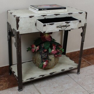 International Caravan Vintage Antique Rectangular One-drawer Hall Table