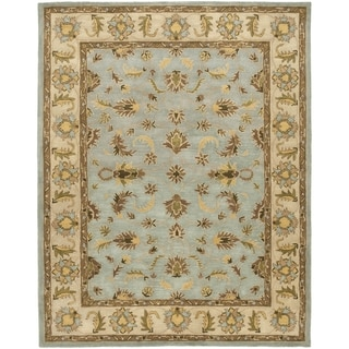Safavieh Handmade Heritage Timeless Traditional Light Blue/ Beige Wool Rug (9' x 12')