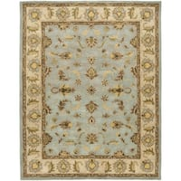 Safavieh Handmade Heritage Timeless Traditional Light Blue/ Beige Wool Rug - 9' x 12'