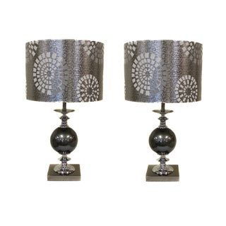 Casa Cortes Malibu Metallic 22-inch Table Lamps (Set of 2)
