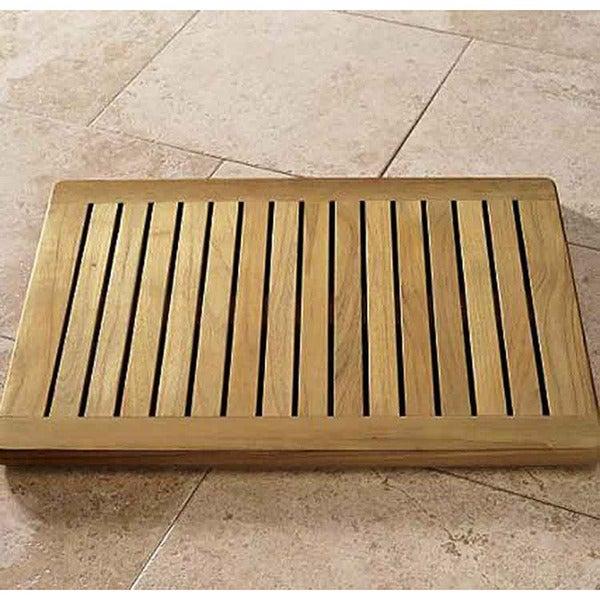"Spa Indonesian 24"" Teak Wood Bath Mat"
