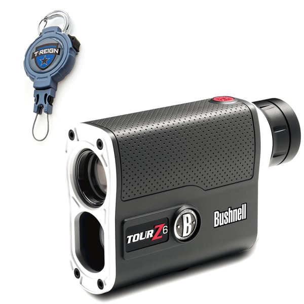 Bushnell Tour Z6 Tournament Edition Golf Rangefinder with T-Reign Retractable Gear Tether