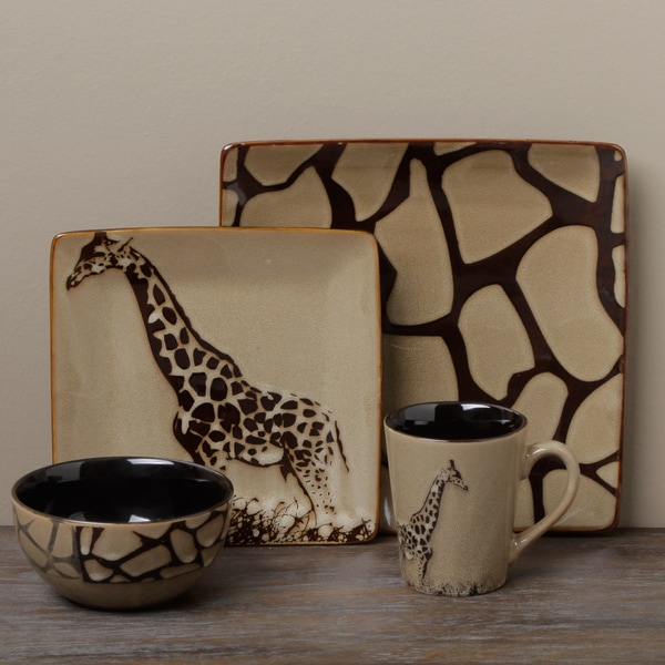 Shop Tabletop Unlimited Giraffe 16 Piece Dinnerware Set