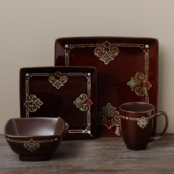 Tabletops Unlimited Marakesh 16-piece Square Dinnerware Set