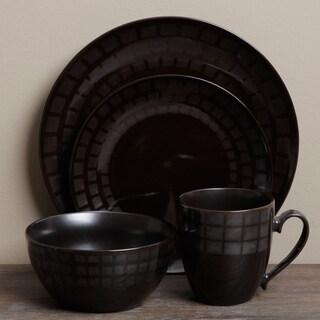Tabletop Unlimited 'Mosaic Black' 16-piece Dinnerware Set