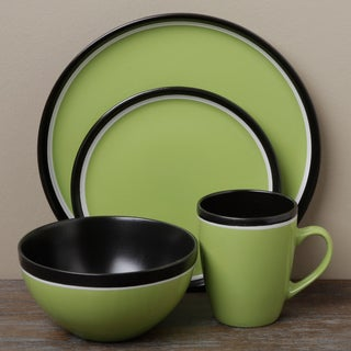 Tabletop Gallery 'Argentina' Green 16-piece Dinnerware Set