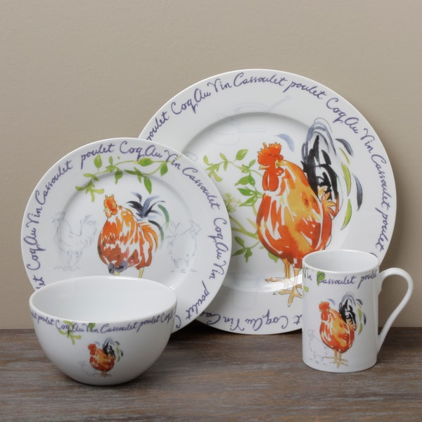 Shop Tabletop Gallery \'Coq Au Vin\' 16-piece Dinnerware Set - Free ...