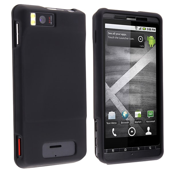 BasAcc Black Rubber Coated Case for Motorola Droid Xtreme MB810