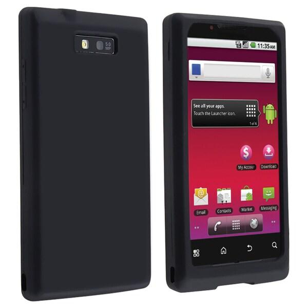 BasAcc Black Silicone Skin Case for Motorola Triumph WX435