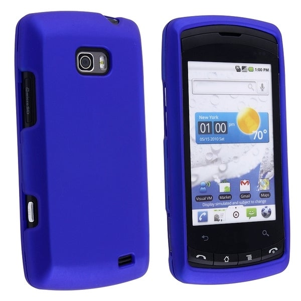 BasAcc Dark Blue Snap-on Rubber Coated Case for LG Ally VS740