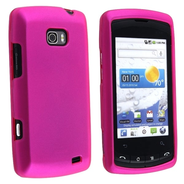 BasAcc Hot Pink Snap-on Rubber Coated Case for LG Ally VS740