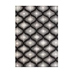 Alliyah Handmade Black New Zealand Bled Wool Rug (8' x 10')