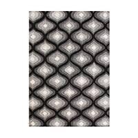 Alliyah Handmade Black New Zealand Bled Wool Rug - 8' x 10'