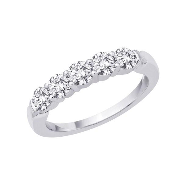 14k White Gold 1/4ct to 1ct TDW Diamond Ring (G-H I1) Size 7