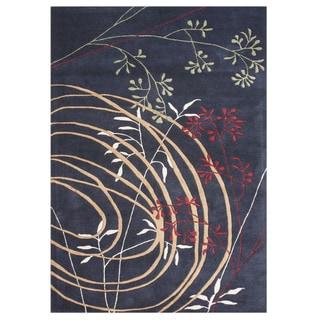 Alliyah HandmadeBlack New Zealand Blend Wool Rug (9' x 12')