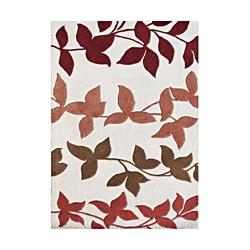 Alliyah Handmade Off White New Zealand Blend Wool Rug (5' x 8')