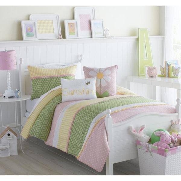 VCNY Big Believers Lazy Daisy 3-piece Comforter Set