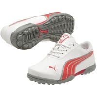 Junior Puma White / Red / Silver Super Cell Fusion Ice Jr Golf Shoes