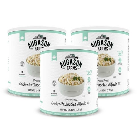 Augason Farms Freeze Dried Chicken Fettuccine Alfredo Kit 42.4 oz No. 10 Can