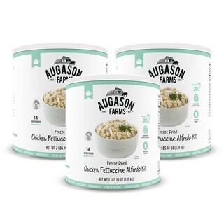 Augason Farms Freeze Dried Chicken Fettuccine Alfredo Kit 42.4 oz No. 10 Can