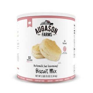Augason Farms Buttermilk (No Leavening) Biscuit Mix 46 oz #10 Can