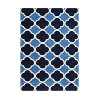 Alliyah Handmade Azure Blue New Zealand Blend Wool Rug (9' x 12')