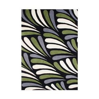 Alliyah Handmade Moss New Zealand Blend Wool Rug (8' x 10')