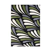 Alliyah Handmade Moss New Zealand Blend Wool Rug (5' x 8') - 5' x 8'