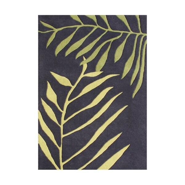 Alliyah HandmadeTender Green New Zealand Blend Wool Rug - 5' x 8'