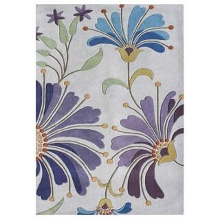 Alliyah Handmade Light Purple New Zealand Blend Wool Rug (9' x 12')