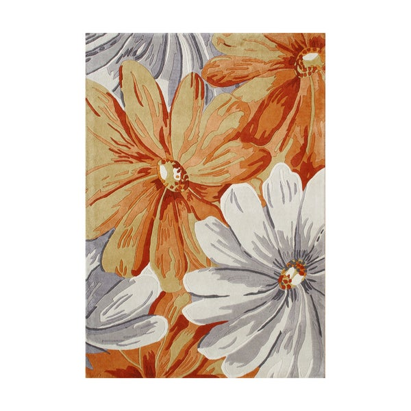 Alliyah Handmade Eastern Colors New Zealand Blend Wool Rug (9' x 12')