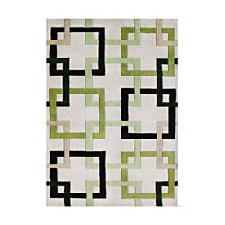 Alliyah Handmade Beige Puzzle New Zealand Blend Wool Rug (9' x 12')