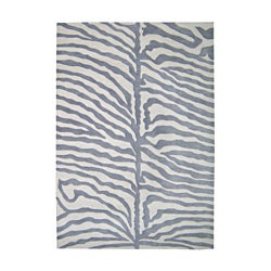Alliyah Handmade Grey New Zealand Blend Wool Rug (9' x 12')
