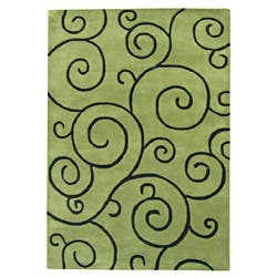 Alliyah Handmade Hand-tufted Lime Green with Black Mehendi Pattern New Zealand Blend Wool Rug (9' x 12')|https://ak1.ostkcdn.com/images/products/7252049/Alliyah-Hand-Made-Tufted-Lime-Green-New-Zealand-Blend-Wool-Rug-9-x-12-P14731597.jpg?impolicy=medium
