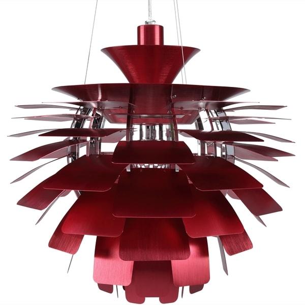 Artichoke Style Red Chandelier Modern Lamp