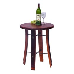 Round Stave End Table