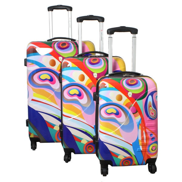 Orbit Dynamics Dejuno 3-piece Lightweight Hardside Spinner Luggage Set