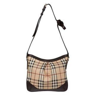 Burberry 3690370 Medium Haymarket Check Crossbody Bag