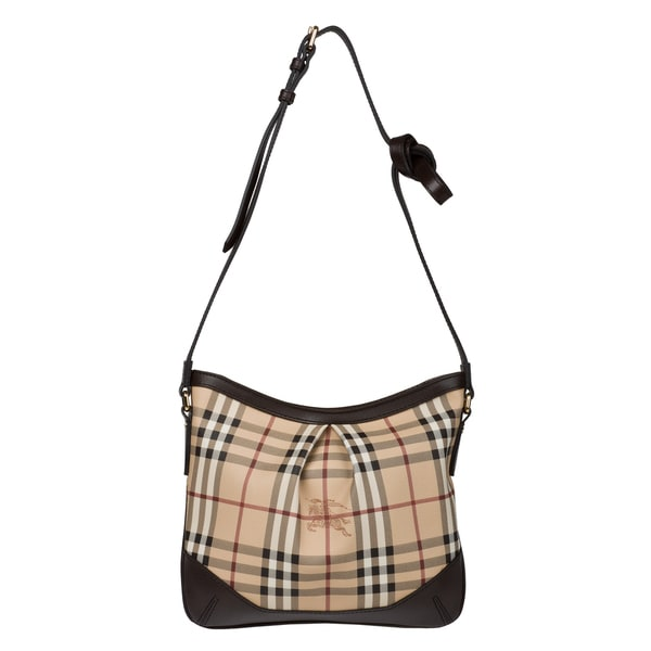Burberry 3690370 Medium Haymarket Check Crossbody Bag
