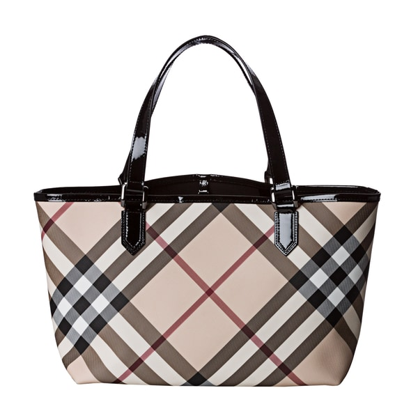burberry purses outlet online nkaq  Burberry Nova Check Tote Bag