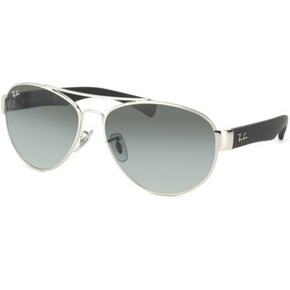 Ray-Ban Unisex RB 3491 Aviator 003/11 Silver & Matte Black Sunglasses