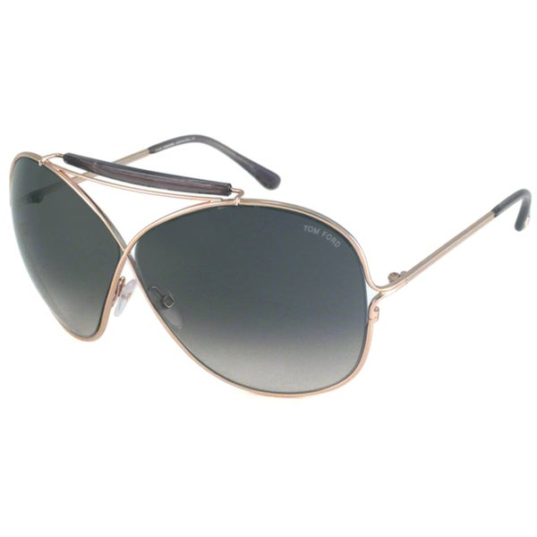 Tom Ford Women's TF0200 Catherine Gold/Smoke Oversize Sunglasses